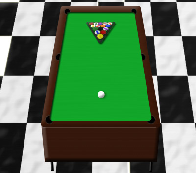 Pool Table Before Covering